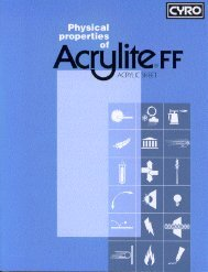 Physical Properties of ACRYLITE FF sheet