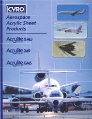 Literature - Aerospace Acrylic Sheet Product Offering (- 1590B)