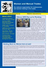 Winter 2006 Newsletter - Women and Manual Trades