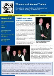 Spring 2006 Newsletter - Women and Manual Trades