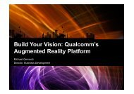 Build Your Vision: Qualcomm's Augmented Reality Platform