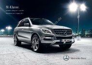 Preisliste Mercedes-Benz M-Klasse, 8/2011 - mobilverzeichnis.de