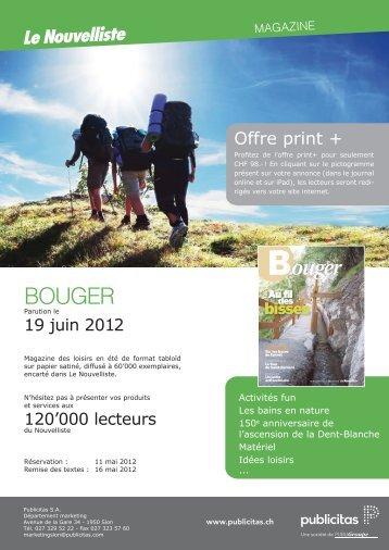 BOUGER - Le Nouvelliste – Publicité Presse Internet iPhone iPad ...