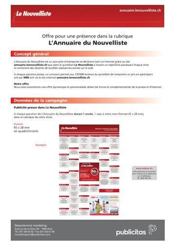 Télécharger le document en PDF - Le Nouvelliste – Publicité Presse ...