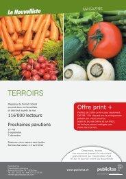 TERROIRS - Le Nouvelliste – Publicité Presse Internet iPhone iPad ...