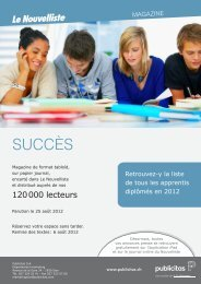 SUCCÈS - Le Nouvelliste – Publicité Presse Internet iPhone iPad ...