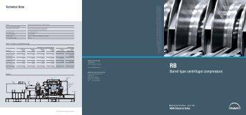RB – Barrel Type Centrifugal Compressors - MAN Diesel & Turbo
