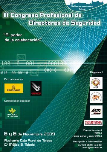 III Congreso Profesional de Directores de Seguridad - Criptored