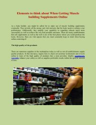 Elements to think about When Getting Muscle building Supplements Online