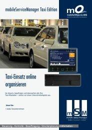 Taxi-Einsatz online organisieren - mobileObjects AG