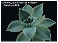 Genetics, Evolution and Ecology - next2eden.net