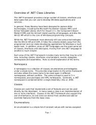 Overview of .NET Class Libraries - Bamafolks.com
