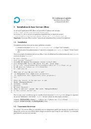 1 Installation de base Serveur JBoss - Polytech'Lille, page Olivier ...