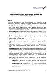 Saudi Domain Name Registration Regulation