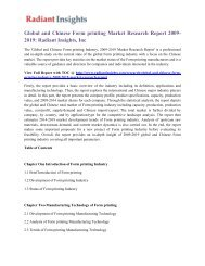 Global and Chinese Form Printing Market Research Report 2009-2019 Radiant Insights, Inc