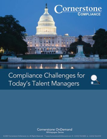 Compliance Challenges for Today's Talent Managers - Dresser ...