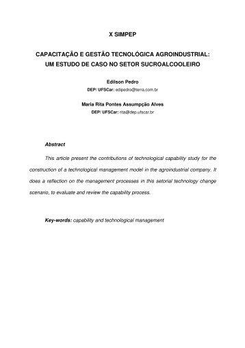 x simpep capacitação e gestão tecnológica agroindustrial
