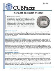 The facts on smart meters - Citizens Utility Board