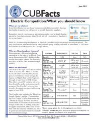 CUBFacts - Citizens Utility Board