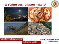 Tendenze del turismo e sviluppo locale - 2012 - Comune di Vasto