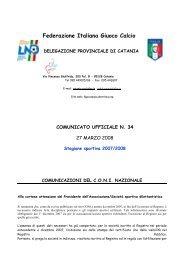 Federazione Italiana Giuoco Calcio - Comunicati Ufficiali