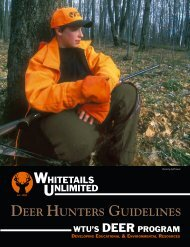 DEER HUNTERS GUIDELINES - Whitetails Unlimited