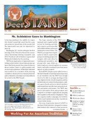 Mr. Schinkten Goes to Washington - Whitetails Unlimited