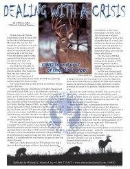 Dealing with a Crisis - Whitetails Unlimited