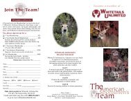 membership brochure 04.indd - Whitetails Unlimited