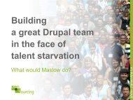 Building a great Drupal team in the face of talent starvation