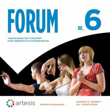 Forum 6, juli - augustus, jaargang 16 - Artesis Hogeschool Antwerpen