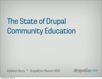 Drupal Ladder - DrupalCon Munich 2012
