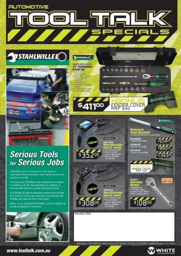 Serious Tools for Serious Jobs