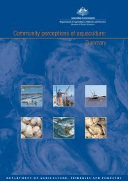 Community perceptions of aquaculture: Summary