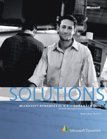 Microsoft DynaMics sL 6.5 - Computer Generated Solutions