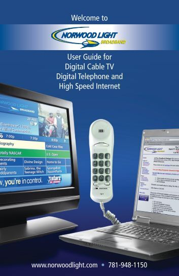 Welcome to User Guide for Digital Cable TV Digital Telephone and ...