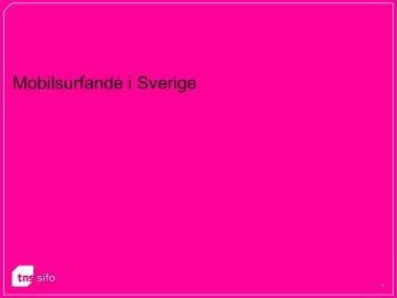 Tabeller Mobilsurfande i Sverige (PDF) - TNS-Sifo