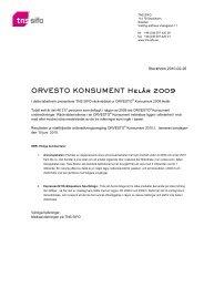 ORVESTO KONSUMENT Helår 2009 - TNS-Sifo