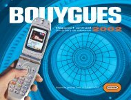 Rapport annuel - Bouygues