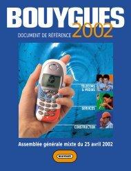 Assemblée générale mixte du 25 avril 2002 - Bouygues