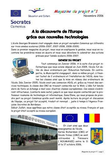 A la découverte de l'Europe grâce aux nouvelles technologies