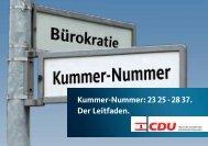Kummer-Nummer: 23 25 - 28 37. Der Leitfaden. - CDU-Fraktion ...