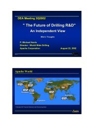 Mike Harris Presentation - Drilling Engineering Association