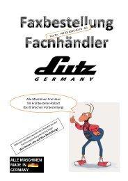 Faxbestellformular - LUTZ MASCHINEN