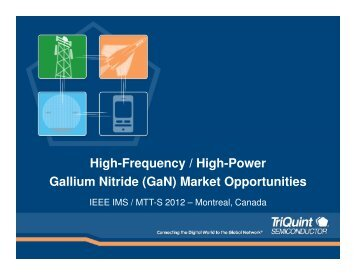 TriQuint Presentation from Panel (pdf) - Microwave Journal