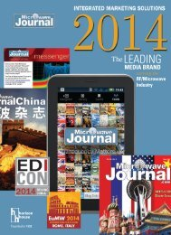 2013 MEDIA KIT SELF COVER.indd - Microwave Journal