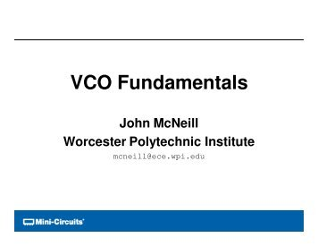 VCO Fundamentals - Microwave Journal