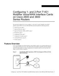 Configuring 1- and 2-Port T1/E1 Multiflex Voice/WAN ... - docs.mind.ru