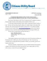 news release - Citizens Utility Board
