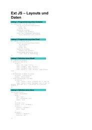 Ext JS – Layouts und Daten - web & mobile DEVELOPER
